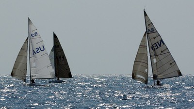 FRA - USA - NED podium downwind