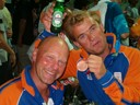 with my coach Han Beverwijk and a beer