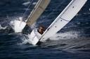 Upwind in front of Damien Seguin (FRA)