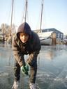 Sacha, harbor of Muiden, jan. 2009
